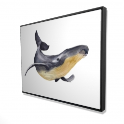 Framed 36 x 48 - 3D - Blue whale