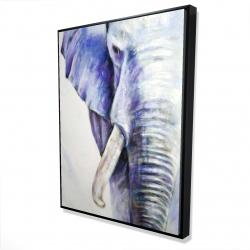 Framed 36 x 48 - 3D - Half head colorful elephant
