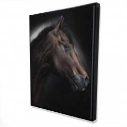 Framed 36 x 48 - 3D - Loneliness horse