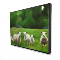 Framed 36 x 48 - 3D - Fields of sheep