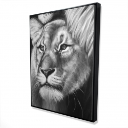 Framed 36 x 48 - 3D - Lion and lioness