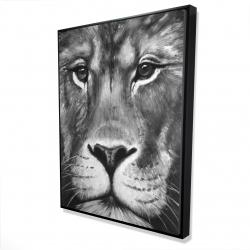 Framed 36 x 48 - 3D - Lion portrait