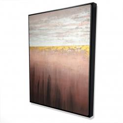 Framed 36 x 48 - 3D - Golden pink