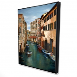 Framed 36 x 48 - 3D - Magical venice canal