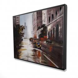 Framed 36 x 48 - 3D - Morning street scene