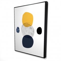 Framed 36 x 48 - 3D - Spheres