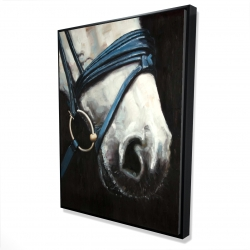 Framed 36 x 48 - 3D - Horse with harness
