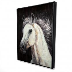 Framed 36 x 48 - 3D - White star horse