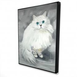 Framed 36 x 48 - 3D - Chinchilla persian cat