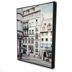 Framed 36 x 48 - 3D - Street scene in germany