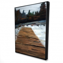 Framed 36 x 48 - 3D - Dock and lake