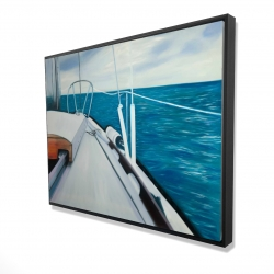 Framed 36 x 48 - 3D - Sail on the water