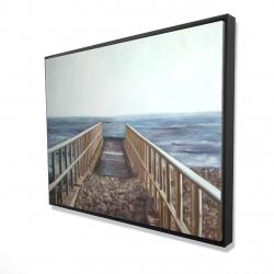 Framed 36 x 48 - 3D - Relaxing beach