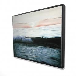 Framed 36 x 48 - 3D - Desaturated sunset
