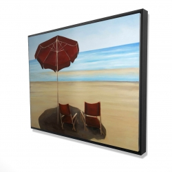 Framed 36 x 48 - 3D - Relax at the beach