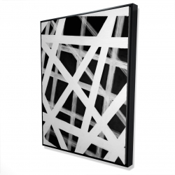 Framed 36 x 48 - 3D - Geometric stripes