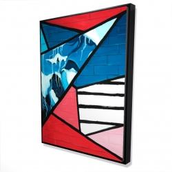 Framed 36 x 48 - 3D - Diagonal unity