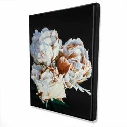 Framed 36 x 48 - 3D - Blooming peonies
