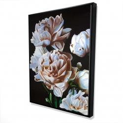 Framed 36 x 48 - 3D - Peonies