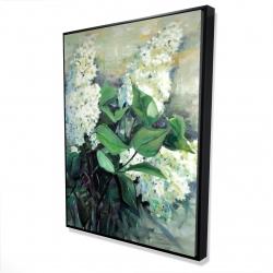 Framed 36 x 48 - 3D - White lilacs