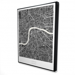 Framed 36 x 48 - 3D - Graphic map of london