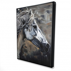 Framed 36 x 48 - 3D - Side of a wild horse