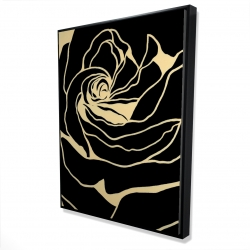 Framed 36 x 48 - 3D - Cutout black rose