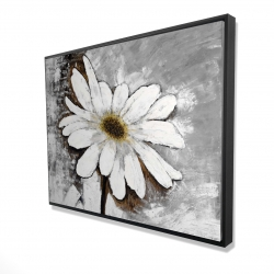 Framed 36 x 48 - 3D - Abstract daisy