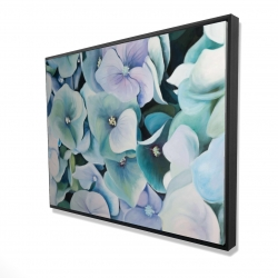 Framed 36 x 48 - 3D - Hydrangea plant