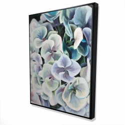 Framed 36 x 48 - 3D - Colorful hydrangea flowers
