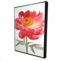 Framed 36 x 48 - 3D - Pink peony