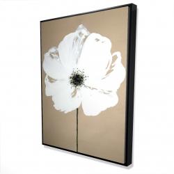 Framed 36 x 48 - 3D - Abstract color splash flower