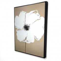 Framed 36 x 48 - 3D - Abstract color splash petals flower