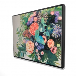 Framed 36 x 48 - 3D - Flowers melody