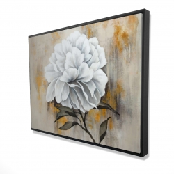 Framed 36 x 48 - 3D - White peony