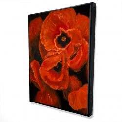 Framed 36 x 48 - 3D - Poppy bouquet