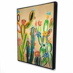 Framed 36 x 48 - 3D - Desert gems