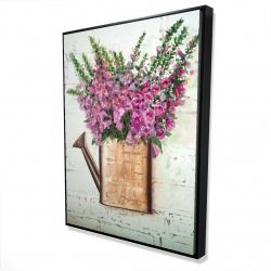 Framed 36 x 48 - 3D - Purple foxglove flowers