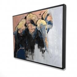 Framed 36 x 48 - 3D - Abstract elephant