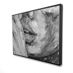 Framed 36 x 48 - 3D - Luscious lips