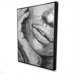Framed 36 x 48 - 3D - Irresistible lips