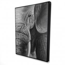 Framed 36 x 48 - 3D - Elephant