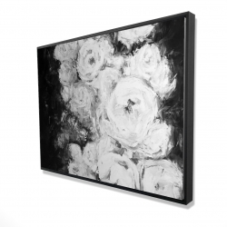 Framed 36 x 48 - 3D - Monochrome rose garden