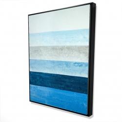 Framed 36 x 48 - 3D - Blue stripes