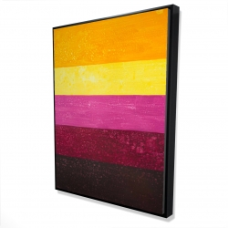 Framed 36 x 48 - 3D - Live stripes