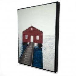Framed 36 x 48 - 3D - Boathouse