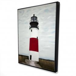 Framed 36 x 48 - 3D - Sankaty head lighthouse