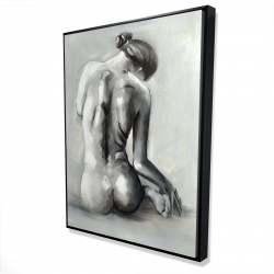 Framed 36 x 48 - 3D - Nude woman from behind