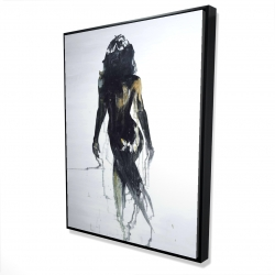 Framed 36 x 48 - 3D - Abstract back view of a woman silhouette