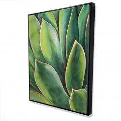 Framed 36 x 48 - 3D - Watercolor agave plant